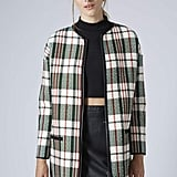 Topshop Textured Check Coat