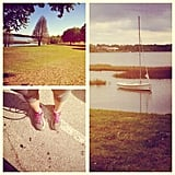 Sunny weather is a perfect excuse to take a run around the local lake! Source: Instagram user thehealthyvita