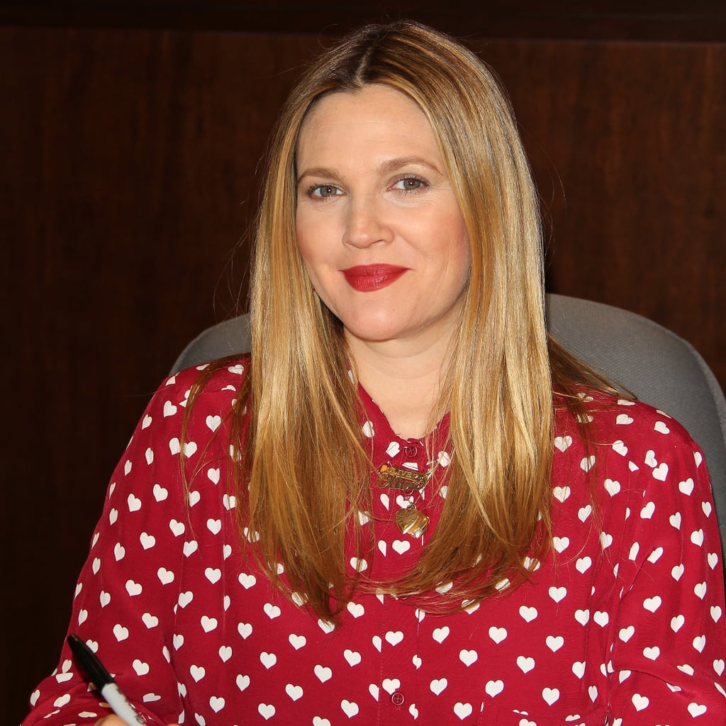 Drew Barrymore Red Heart Topshop Blouse