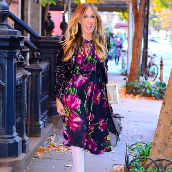 Sarah Jessica Parker Wearing White Tights November 2016