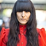 Heavy black eyeliner pops through even the thickest of bangs . . . and looks cool and relaxed, too. Photo by Le 21ème | Adam Katz Sinding