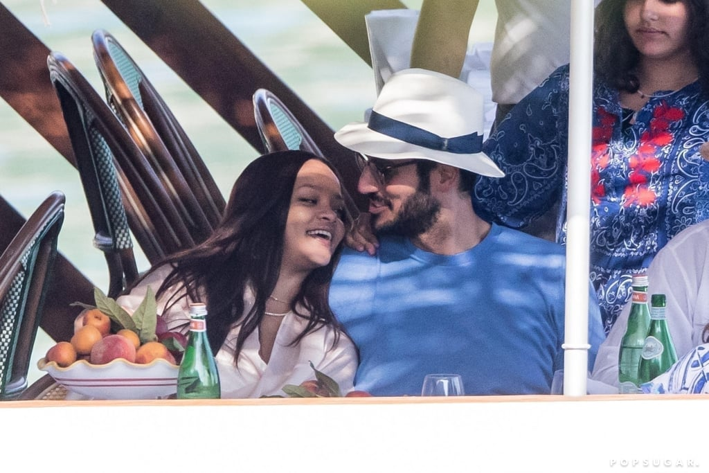 """Rihanna and Hassan Jameel are in love, and it shows. The 31-year-old singer (and the world's richest female musician, by the way) has been dating the 30-year-old Saudi billionaire since 2017. While the two are very private when it comes to their romance, the few glimpses we've gotten so far of their cute date nights and romantic vacations have been adorable. Rihanna even seems to have this new glow to her! In fact, Rihanna recently played coy when Sarah Paulson asked her if she had any plans to get married in a chat for Interview magazine. Even though she didn't answer the question, the singer did say she wants to be a mother """"more than anything in life."""" Does this mean we'll be hearing wedding bells soon? Only time will tell.      Related:                                                                                                           Rihanna's Year Is Already Looking Extremely Sexy, Thanks to These Red-Hot Moments"""