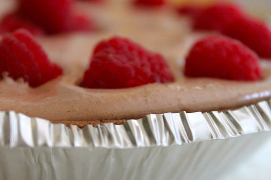 No-Bake Raspberry Nutella Pie
