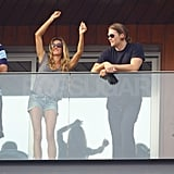 Gisele and Tom Kiss, Dance, and Drink to Keep the Carnival Party Going