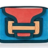 Pierre Hardy Colorblock Suede Shoulder Bag