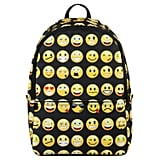 Hynes Eagle Printed Emoji Kids School Backpack Black
