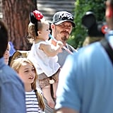David Beckham had fun with daughter Harper Beckham in Minnie Mouse ears at Disneyland.