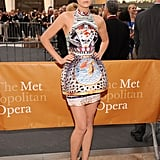 Leelee Sobieski was dramatic in the original Mary Katrantzou lantern dress at the 2011 MET opening night.