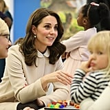 The Duchess of Cambridge Cleverly Conceals Her Baby Bump During a Day With Children