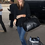 Miranda Kerr was greeted by fans and photographers at LAX.