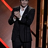 Ian Somerhalder offered some applause onstage at the Young Hollywood Awards.