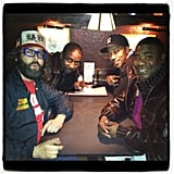 30 Rock's Judah Friedlander and Tracy Morgan spent some quality time off set at NYC's Comedy Cellar. Source: Twitter user JudahWorldChamp