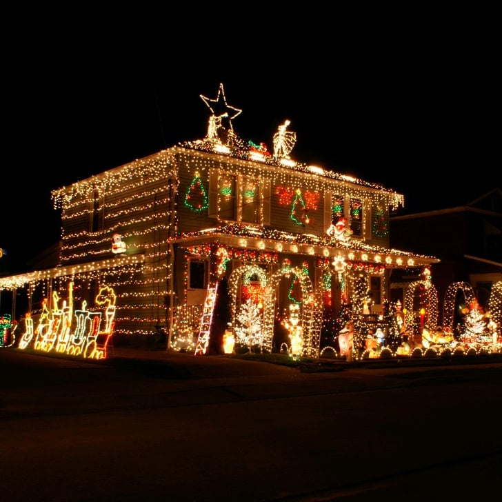 the most decorated christmas homes in america popsugar home - Christmas House Decorations Outside