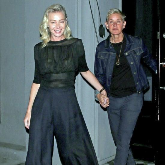 Ellen DeGeneres and Portia de Rossi Matching Sneakers