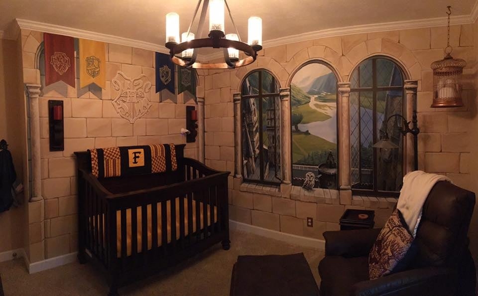 This Incredible Harry Potter Nursery Looks Like a Room Straight Out of Hogwarts