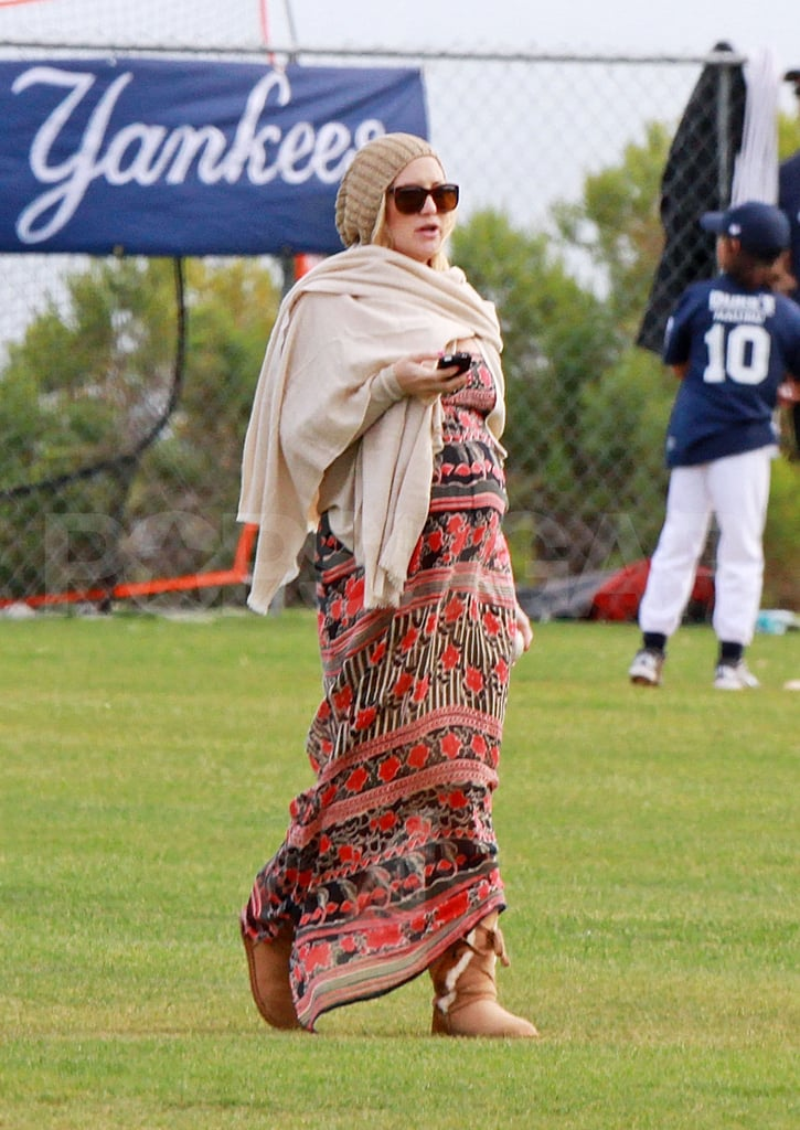 Kate Hudson Wraps Up to Support Ryder's Athletic Endeavor