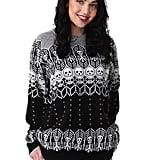 Black and White Skeleton Halloween Sweater