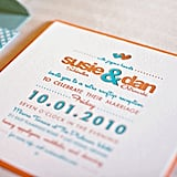 Retro Font Wedding Invitation