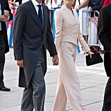 The couple held hands at the September 2013 wedding of Prince Felix of Luxembourg and Claire Lademacher in France.