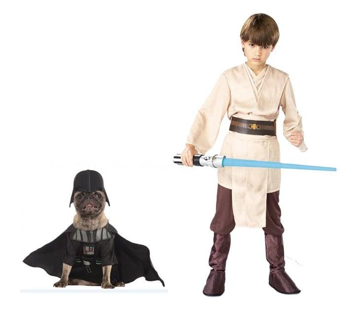 Luke Skywalker and Darth Vader