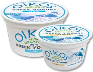 Oikos Greek Style Yogurt from Stonyfield Farm