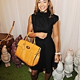 Jessica Ennis carried Mulberry's Bayswater in Sycamore from the Autumn Winter 2012 Collection.