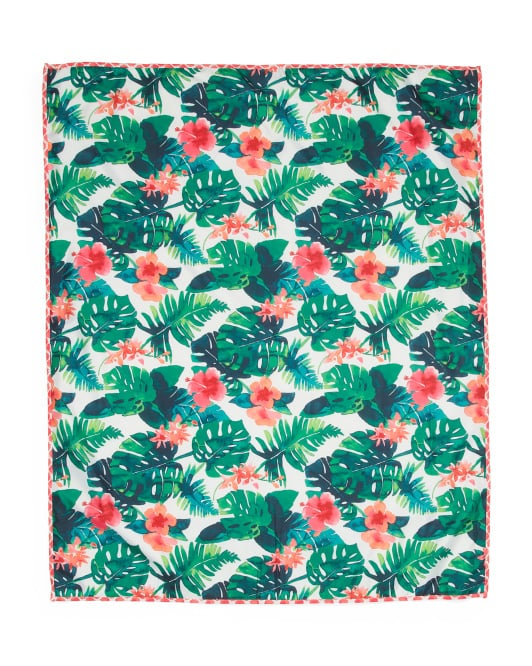 Tropical Leaves Picnic Blanket
