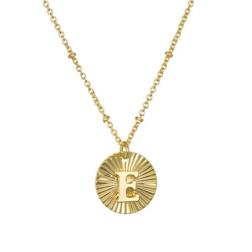 LC Lauren Conrad Metal Burst Initial Pendant Necklace