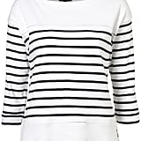 Prepare to set sail in this cute striped tee.  Topshop Embroidered Anchor Stripe Tee ($40)