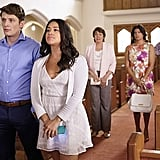 Brett Dier as Michael and Gina Rodriguez as Jane.