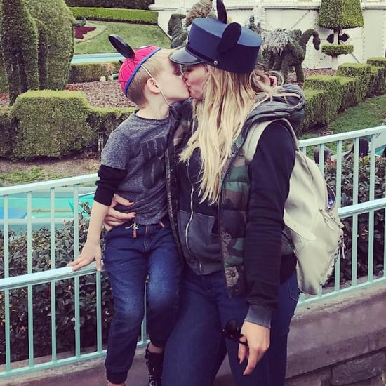 Hilary Duff and Son Luca Kissing at Disneyland Photo 2016