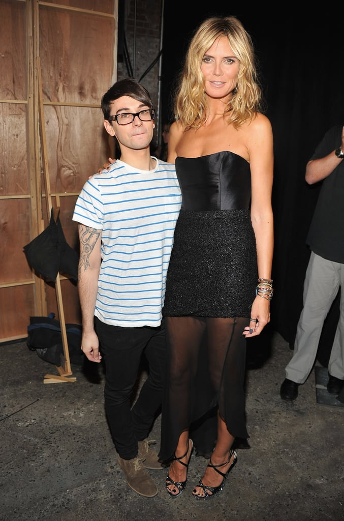 Heidi Klum with Christian Siriano.
