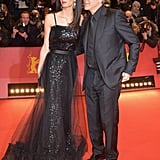 The couple attended the Hail, Caesar! premiere at the 66th Berlinale International Film Festival in 2016. Amal wore a vintage layered black Saint Laurent gown.