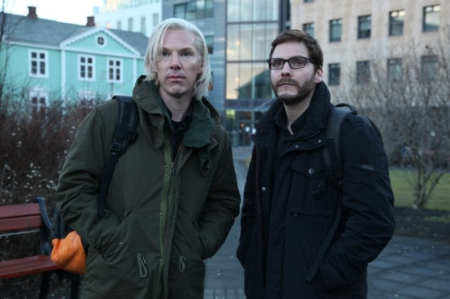 The Fifth Estate  What it's about: Benedict Cumberbatch plays real-life hacker Julian Assange, whose controversial website, WikiLeaks, was the subject of a huge investigation in 2010. Why we're interested: Duh, Cumberbatch. I'm also increasingly curious about Daniel Brühl, who here plays co-founder Daniel Domscheit-Berg, and has already appeared on this list for his role in Rush. When it opens: Oct. 18 Watch the trailer for The Fifth Estate.