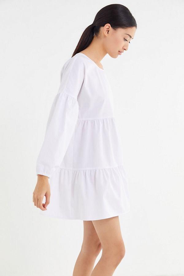 642ff7ff291 Urban Renewal Remnants Long Sleeve Tiered Poplin Mini Dress | Zoë ...
