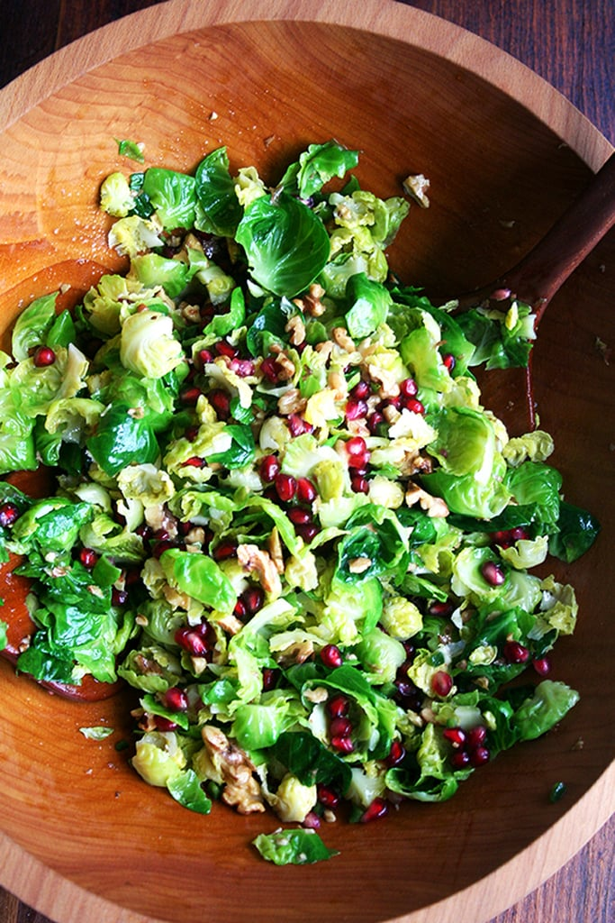 Brussels Sprout Salad With Pomegranate, Walnuts, and Jalapeño