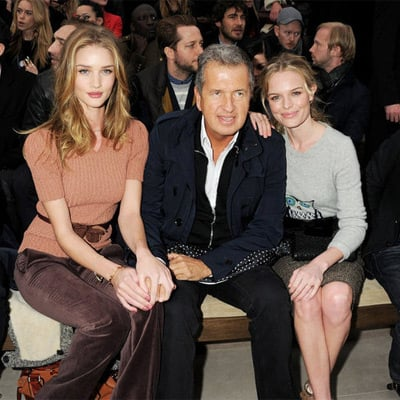 Pictures of Front Row Celebrities at 2012 Fall London Fashion Week