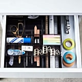 The Container Store Black Expandable Drawer Organiser