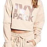 Ivy Park Washed Jersey Cropped Logo Sweatshirt