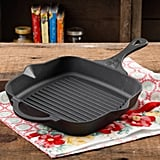 "The Pioneer Woman Timeless Super Pre-Seasoned Cast Iron 10.25"" Square Grill Pan ($25)"