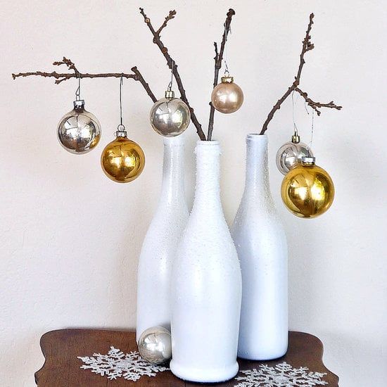Holiday decor 15 inspired ways to decorate with empty for Empty wine bottle decoration ideas