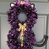 Bewitched Cat Halloween Wreath