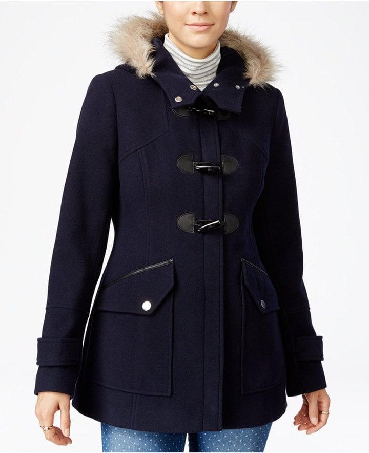 Maralyn & Me Faux-Fur-Trim Hooded Toggle Coat ($100)