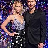 Jennifer Lawrence and Chris Pratt at Passengers Photocall