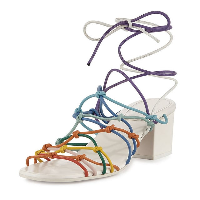 Chloé Multicolor Knotted Ankle-Wrap Sandal ($795)