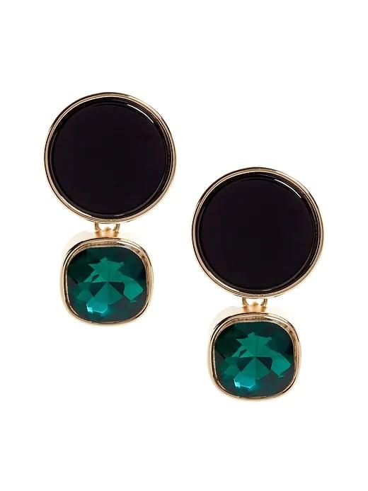 Black Howlite Earrings