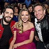 Thomas Rhett, Lauren Akins, and Dennis Quaid