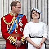 In June 2013, she cracked up alongside Prince William at the Trooping the Colour ceremony.