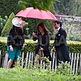 A guest arrived at Hannah Gillingham and Robert Carter's wedding in England with Pippa Middleton.