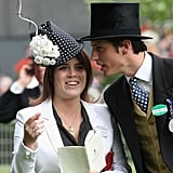 Princess Eugenie talked to Jake Warren in the parade ring on the fourth day of Royal Ascot 2009.